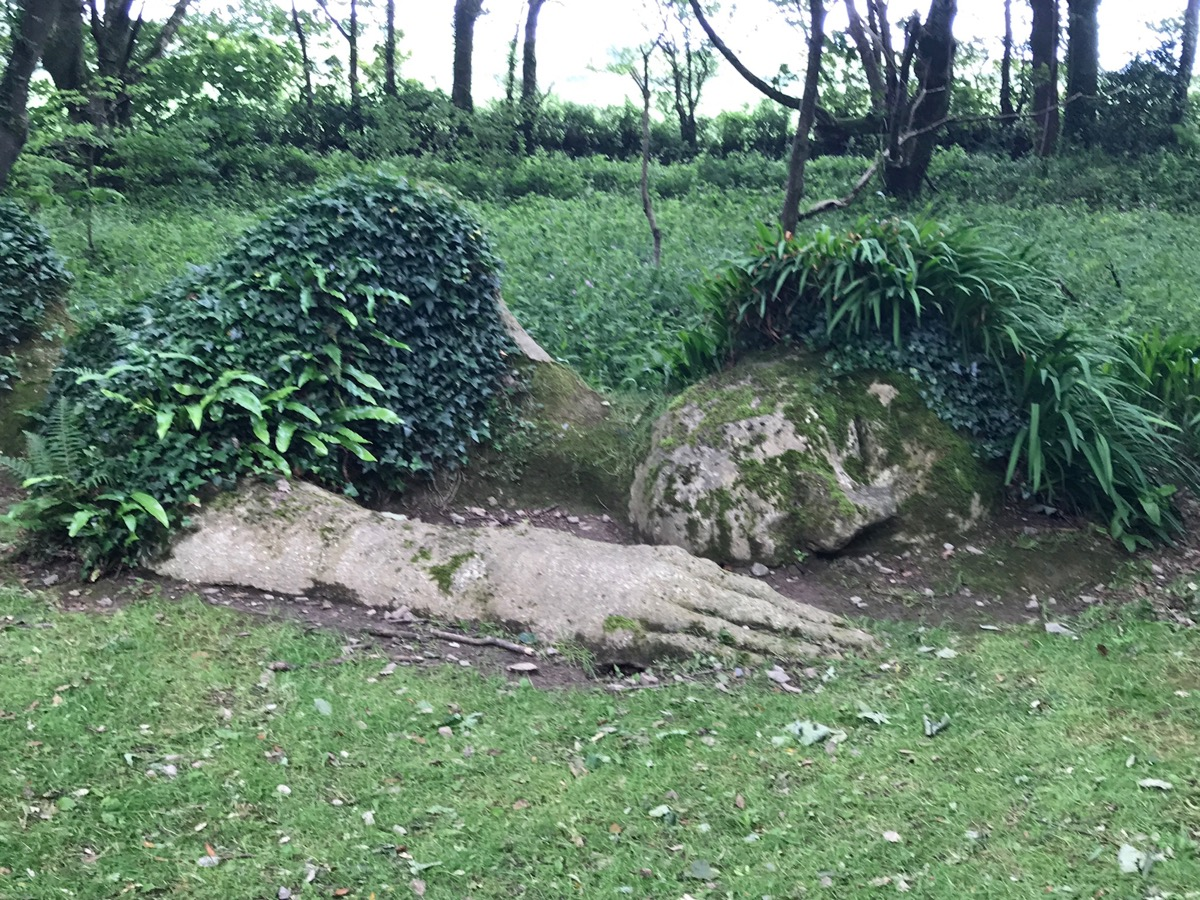 The Lost Gardens of Heligan- sleeping on the job!