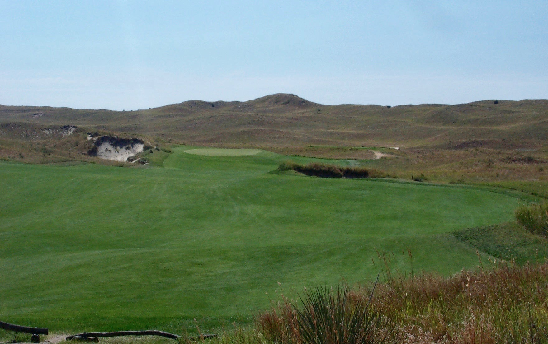 Sand Hills GC- hole 4 green