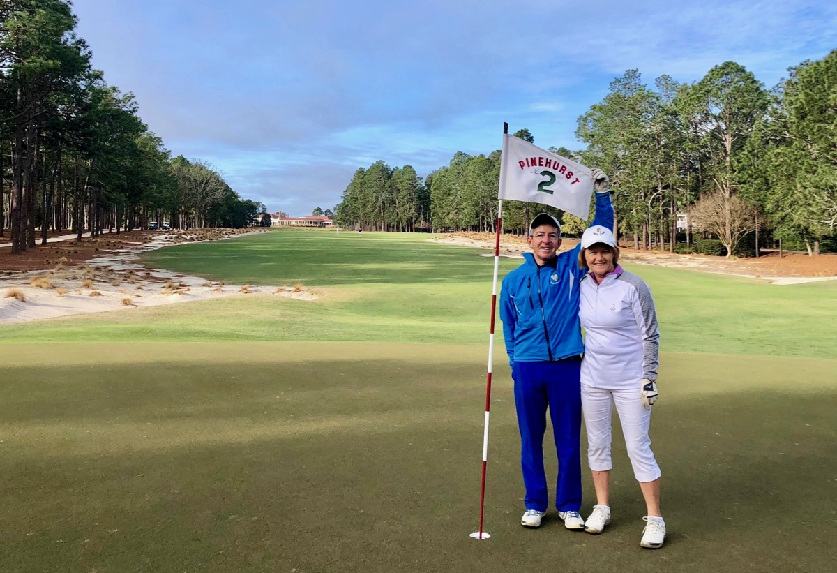 Pinehurst no 2- H & P on the 18th hole