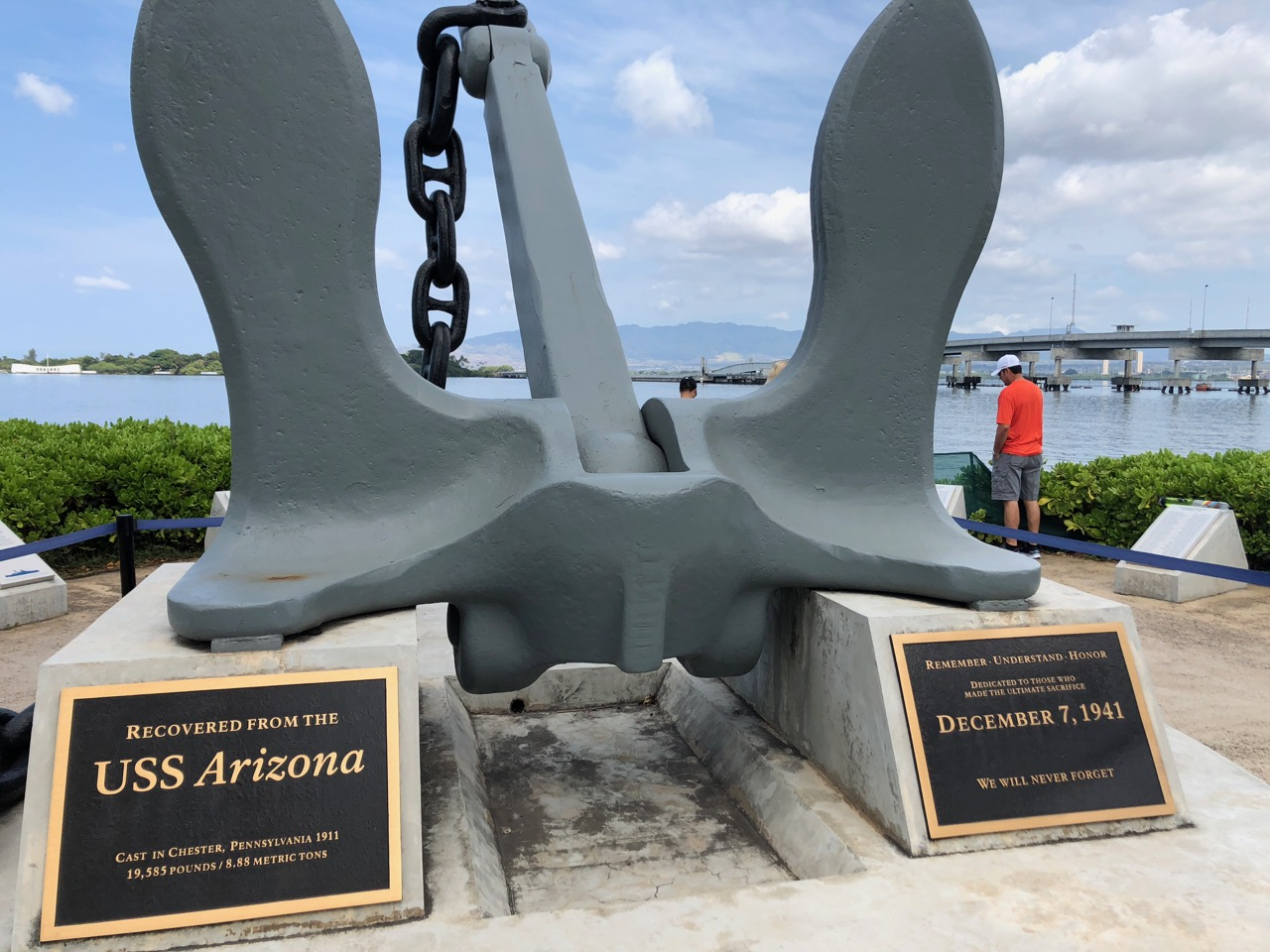 Pearl Harbour- USS Arizona's anchor