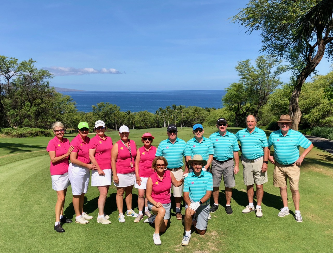 Group in tour uniform at Wailea