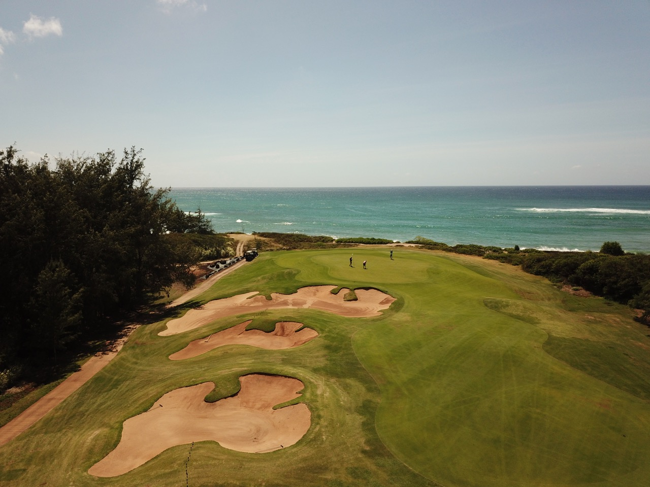 Turtle Bay Resort- Palmer course- hole 17 approach