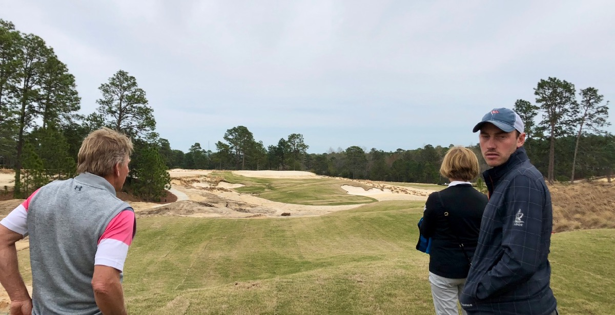 Pinehurst no 4-  inspecting progress with Ben