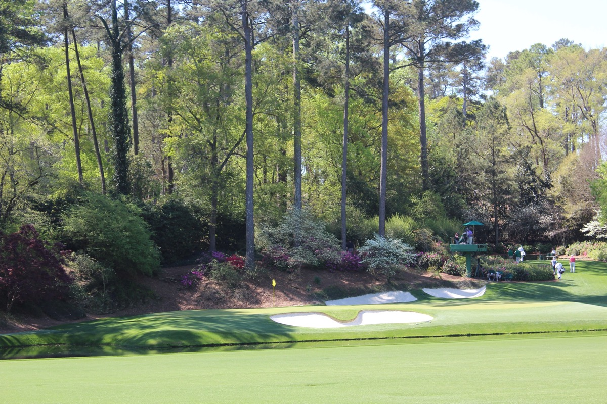 The Masters-  hole 12 in Amen Corner