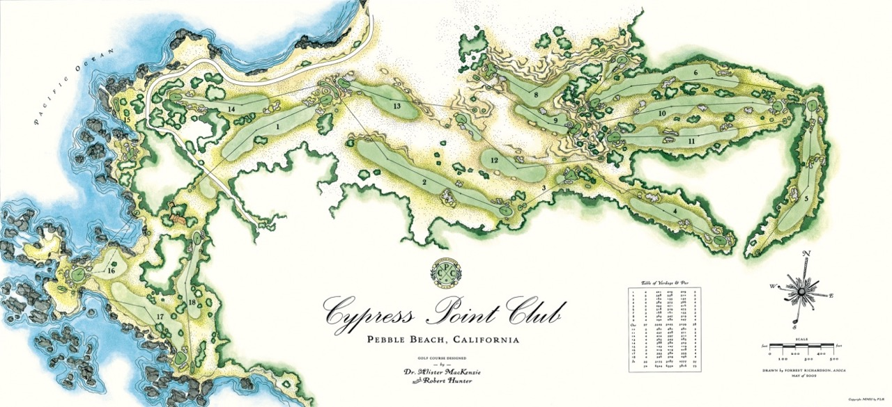 Cypress Point Club routing