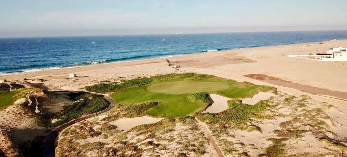 Diamante Dunes- 17 tee to green by drone