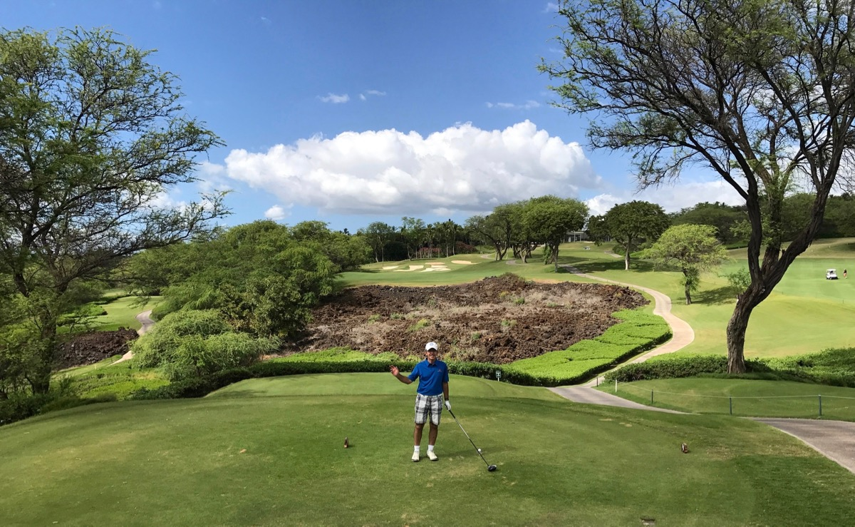 Wailea Golf Club Gold Course- Hole 9 tee shot