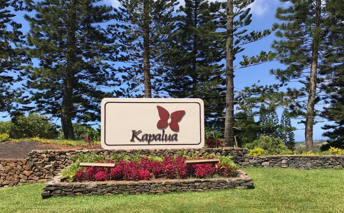 Kapalua- sign at the front gate