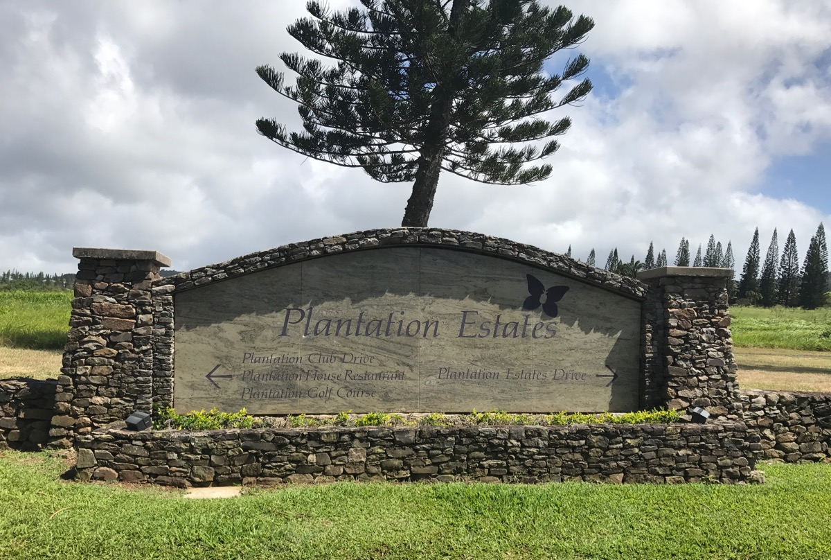 Kapalua- this way to The Plantation Course!