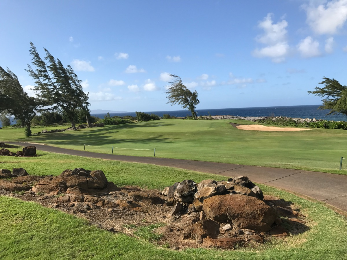 Kapalua- The Bay Course- hole 4 approach