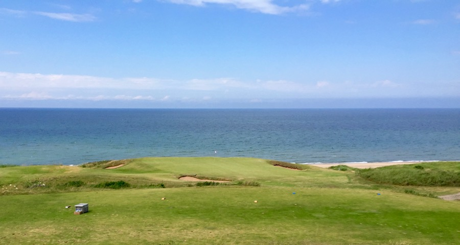 Cabot Links- the very short par 3 fourteenth hole