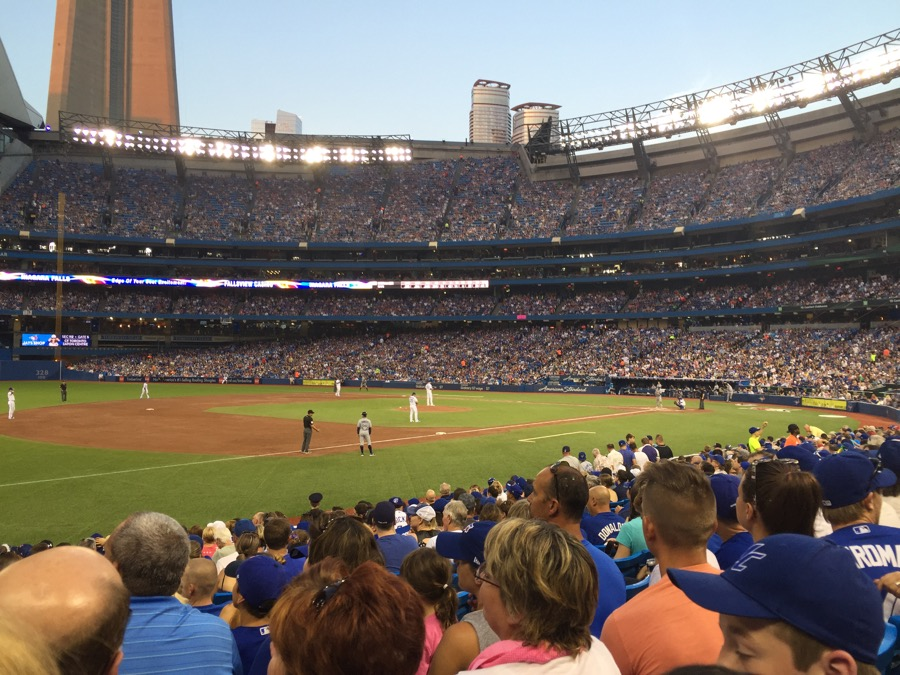 A Bluejays Baseball game in Toronto