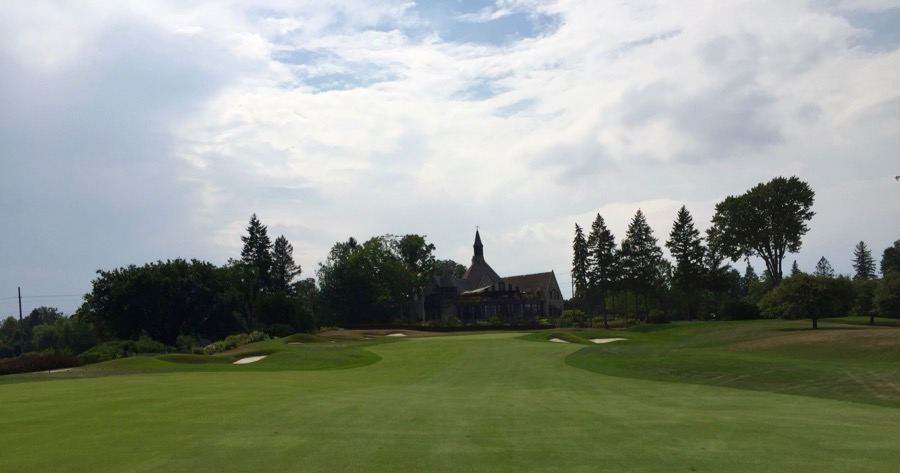 St Georges Golf & Country Club- hole 18 & clubhouse