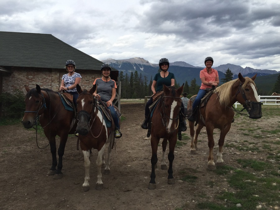 Horse riding at Jasper Park Lodge