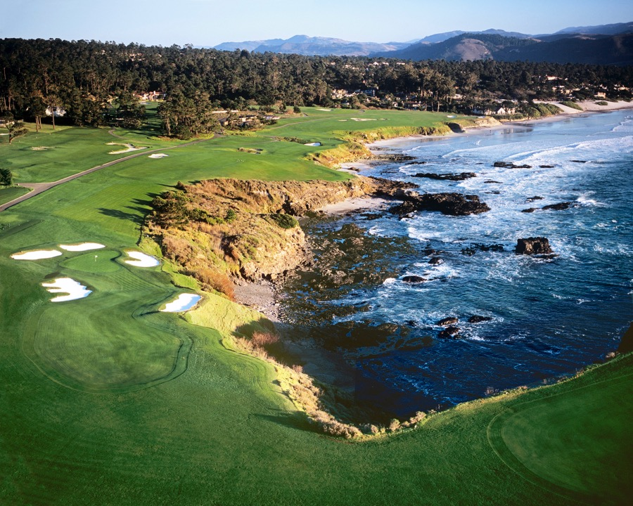 Pebble Beach Golf Links-aerial view of 8th, 9th & 10th holes