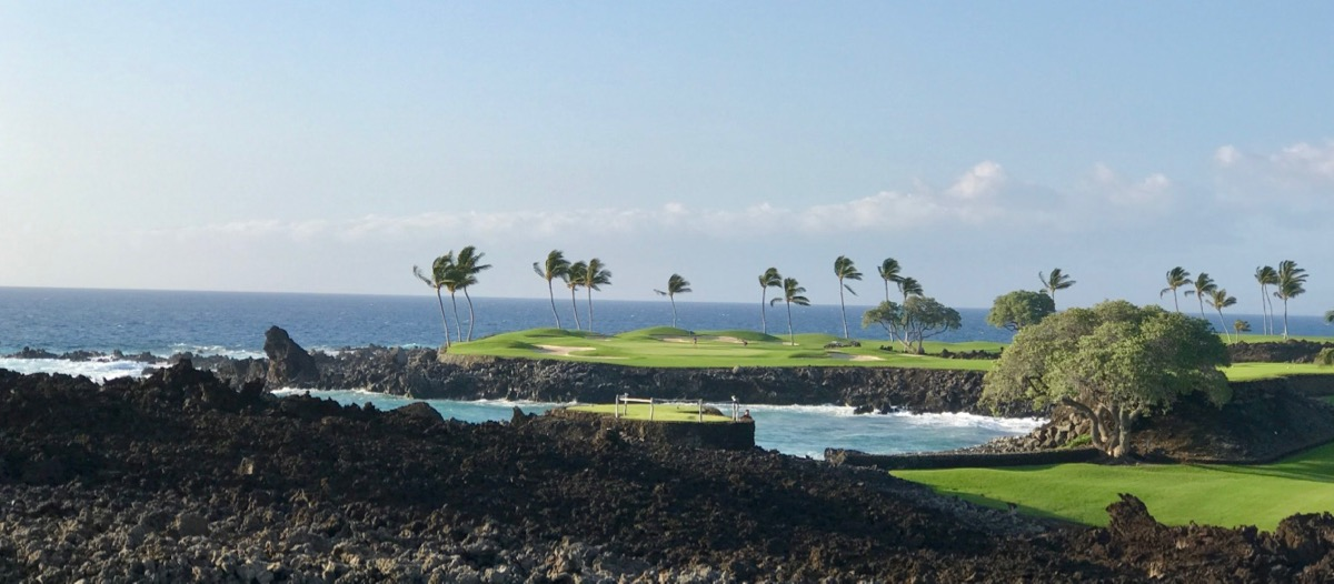 Mauna Lani Resort- South Course- hole15 from behind the tee