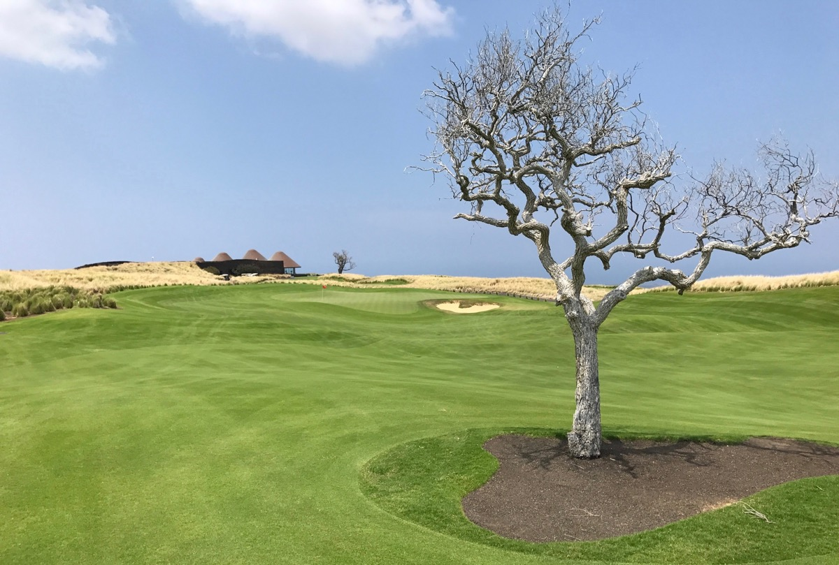 Nanea GC- hole 18 with clubhouse in background
