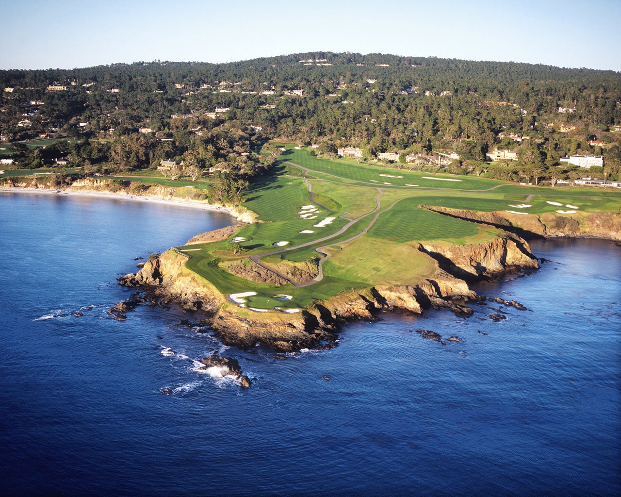 Pebble-Beach-Golf-Links-Aerial-Holes--6-7-8 Photo by Joann Dost. Reproduced by permission of Pebble Beach Company.