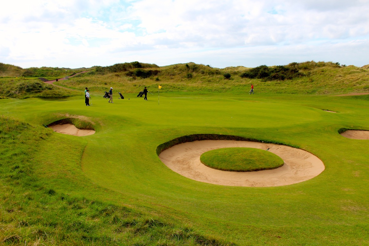 Royal Birkdale GC the doughnut bunker on hole 7