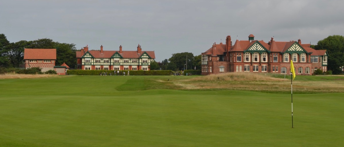 Royal Lytham St Annes Gc looking back down the first hole