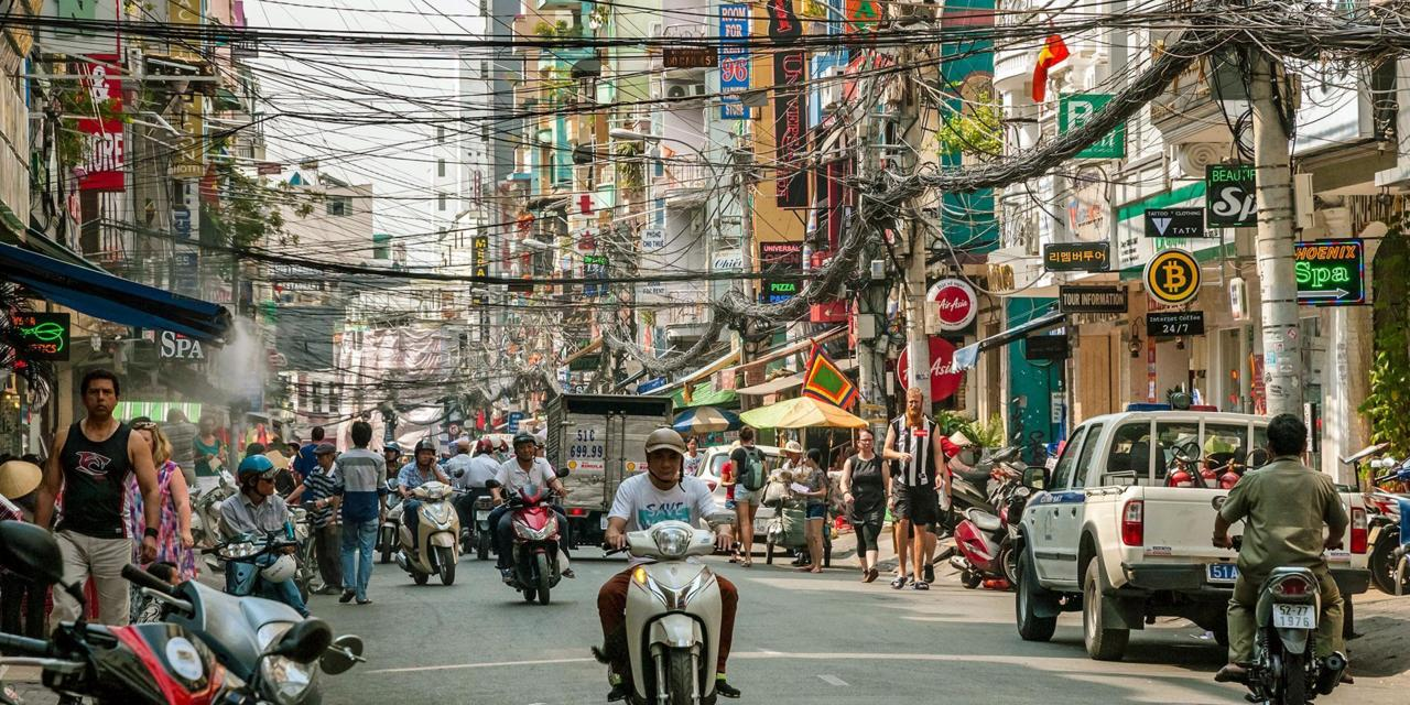 The bustle of Ho Chi Minh City